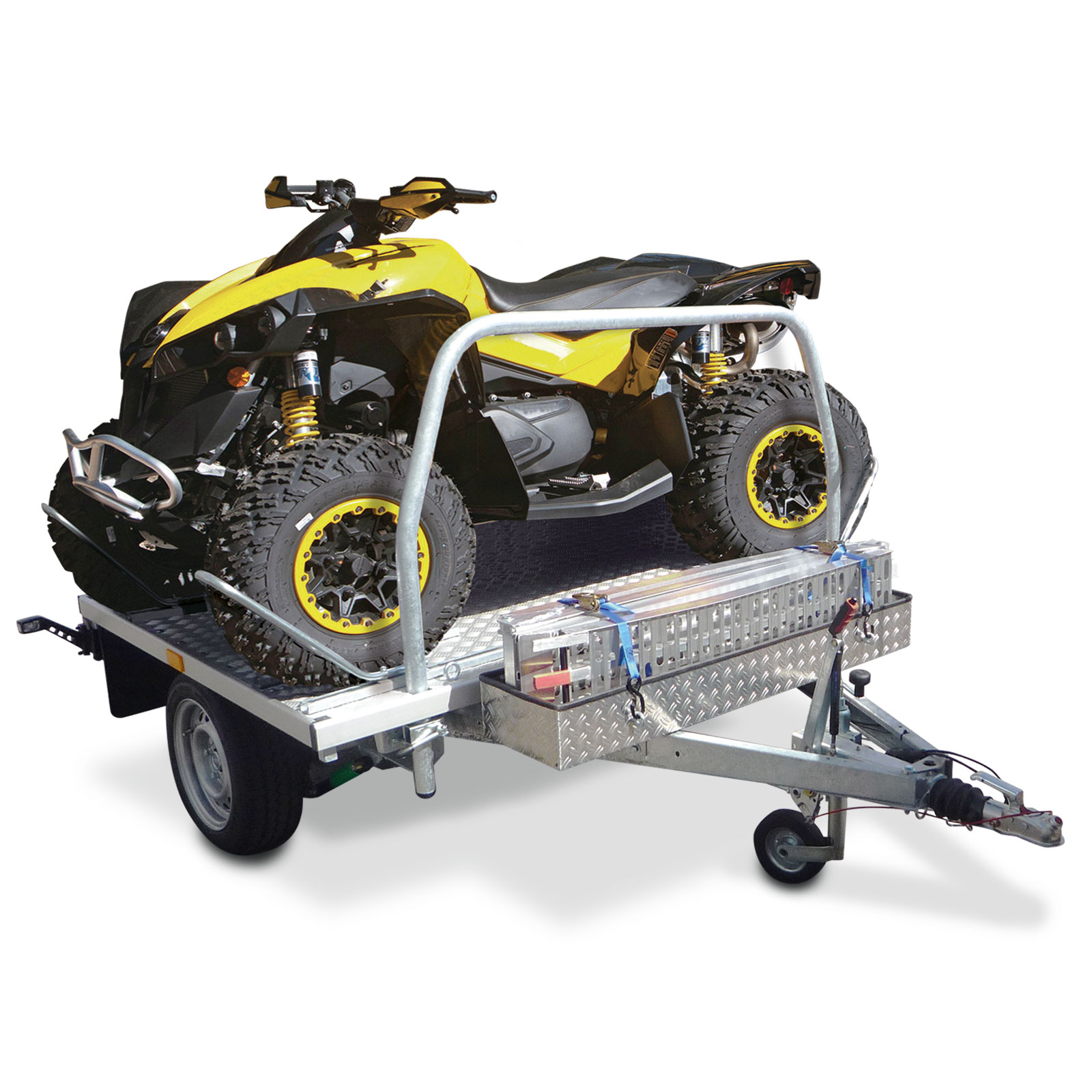 Universali motociklų priekaba Wheely Duo su didesniu pakrovimo plotu