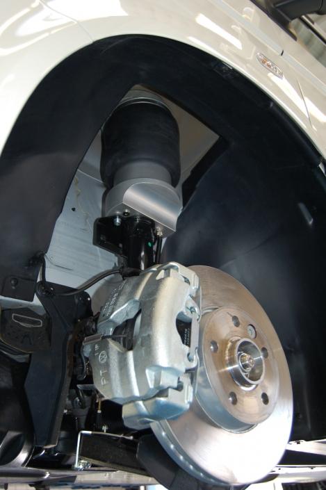 VB VW T5 FullAir sistema priekis - Pneumatinė pakaba su pneumatinėmis oro pagalvėmis